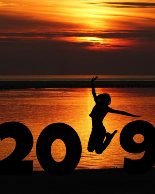 2019 New Year Sunset Background for Nokia C1-01