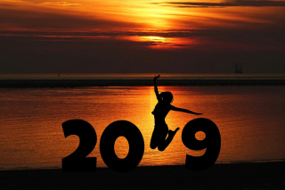 Kostenloses 2019 New Year Sunset Wallpaper für Android 480x800