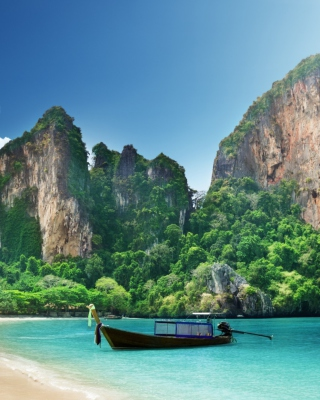 Boat And Rocks In Thailand - Fondos de pantalla gratis para 640x1136