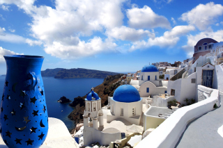 Oia, Greece, Santorini Background for Android, iPhone and iPad