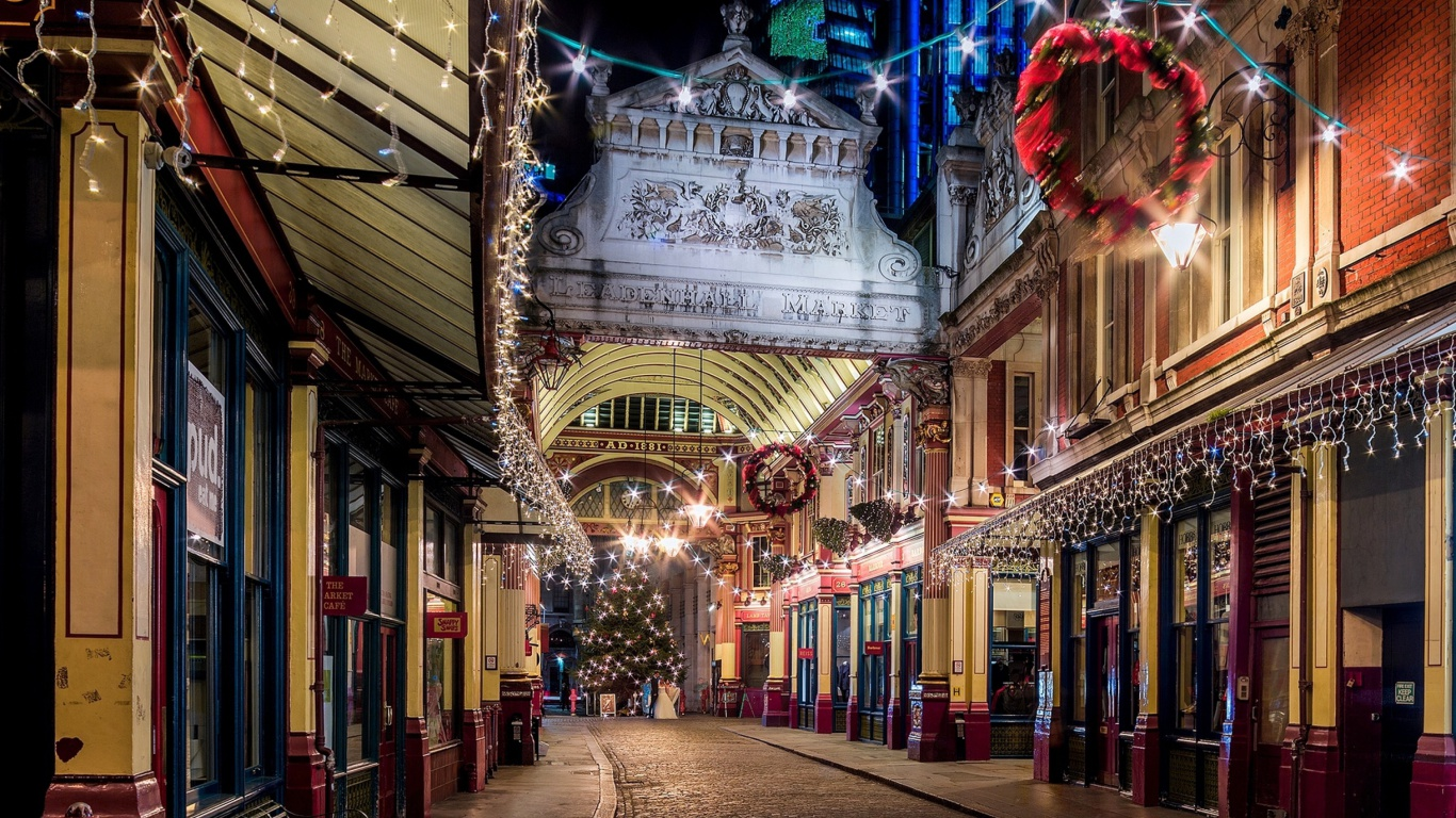Screenshot №1 pro téma London Leadenhall Market 1366x768