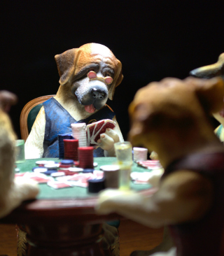 Dogs Playing Poker papel de parede para celular para Nokia 5800 XpressMusic