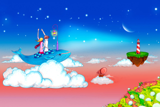 Love on Clouds Background for Android, iPhone and iPad