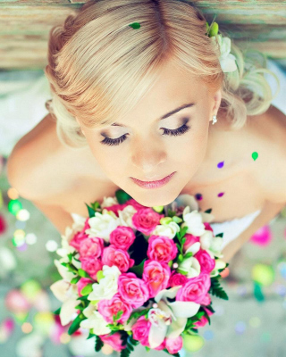 Cute Blonde Bride Background for HTC Titan
