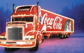 Free Coca Cola Truck Picture for Android, iPhone and iPad