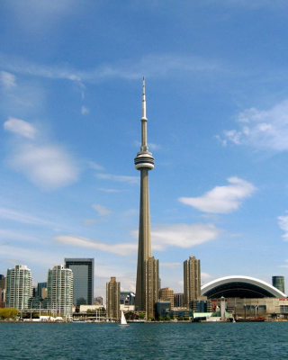 CN Tower in Toronto, Ontario, Canada Wallpaper for HTC Titan