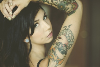 Tattooed Girl Wallpaper for Android, iPhone and iPad