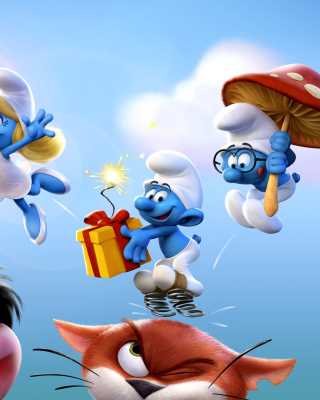 Get Smurfy Background for Nokia C1-01