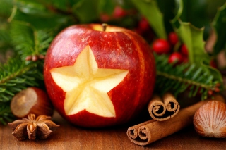 Christmas Apple Picture for Android, iPhone and iPad