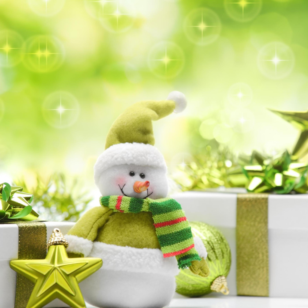 Screenshot №1 pro téma Cute Green Snowman 1024x1024