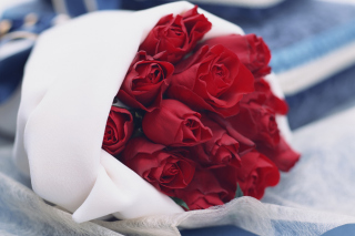 Bouquet Passion Roses Background for Android, iPhone and iPad