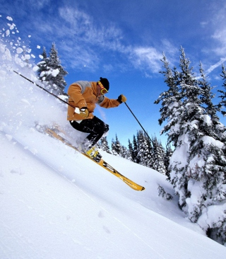 Free Skiing Picture for Nokia C-5 5MP
