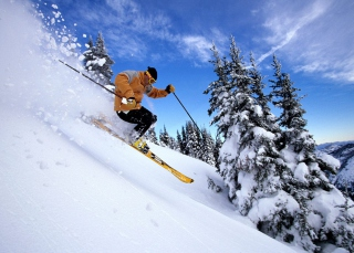Skiing Background for Android, iPhone and iPad