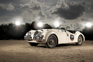 Jaguar XK120 Background for Android, iPhone and iPad