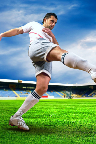 Screenshot №1 pro téma Football Player 320x480