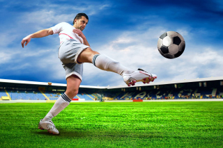 Football Player sfondi gratuiti per 1366x768