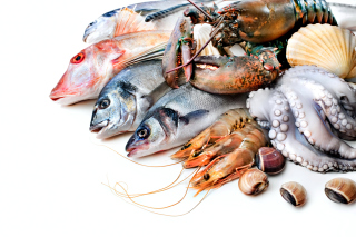 Fresh Seafood Background for Android, iPhone and iPad