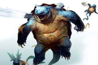 Fantastic monster turtle Background for Android, iPhone and iPad