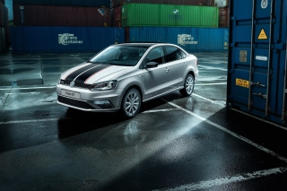 Volkswagen Polo GT in Garage Background for Android, iPhone and iPad