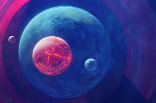 Planet Moon Space Digital Art Wallpaper for Sony Xperia Z1