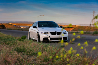 BMW M3 with Wheels 19 Background for Android, iPhone and iPad