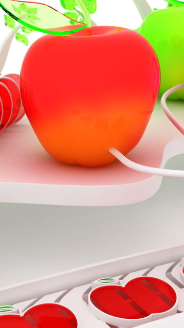 Fondo de pantalla Glass and Plastic Apple 360x640
