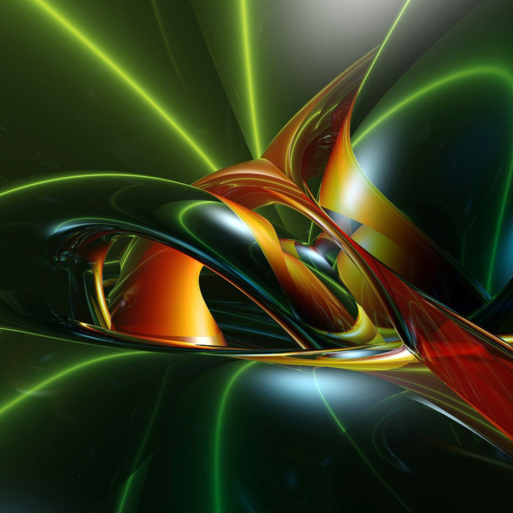 Screenshot №1 pro téma Inspiring Abstract 3D 1024x1024