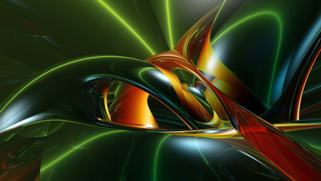 Screenshot №1 pro téma Inspiring Abstract 3D 1280x720