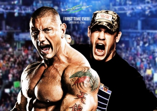 Batista Vs John Cena Wallpaper for Android, iPhone and iPad