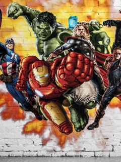 Screenshot №1 pro téma Marvel Comics Graffiti 240x320
