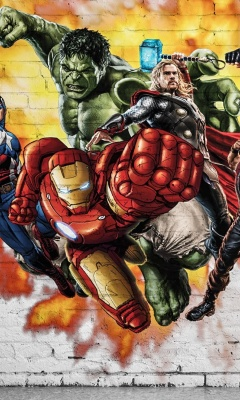 Screenshot №1 pro téma Marvel Comics Graffiti 240x400