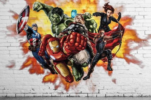 Screenshot №1 pro téma Marvel Comics Graffiti 480x320