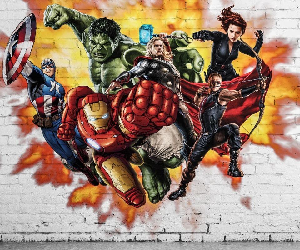 Screenshot №1 pro téma Marvel Comics Graffiti 960x800