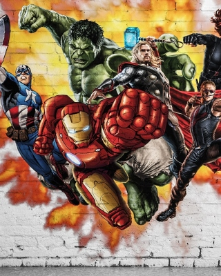 Marvel Comics Graffiti Wallpaper for Nokia Asha 305