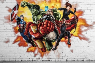 Marvel Comics Graffiti Background for Android, iPhone and iPad