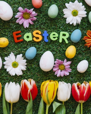 Easter Holiday Background for 240x320