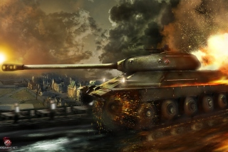 World of Tanks, IS 6 Panzer tank Wallpaper for Android, iPhone and iPad