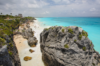 Cancun Beach Mexico Background for Android, iPhone and iPad