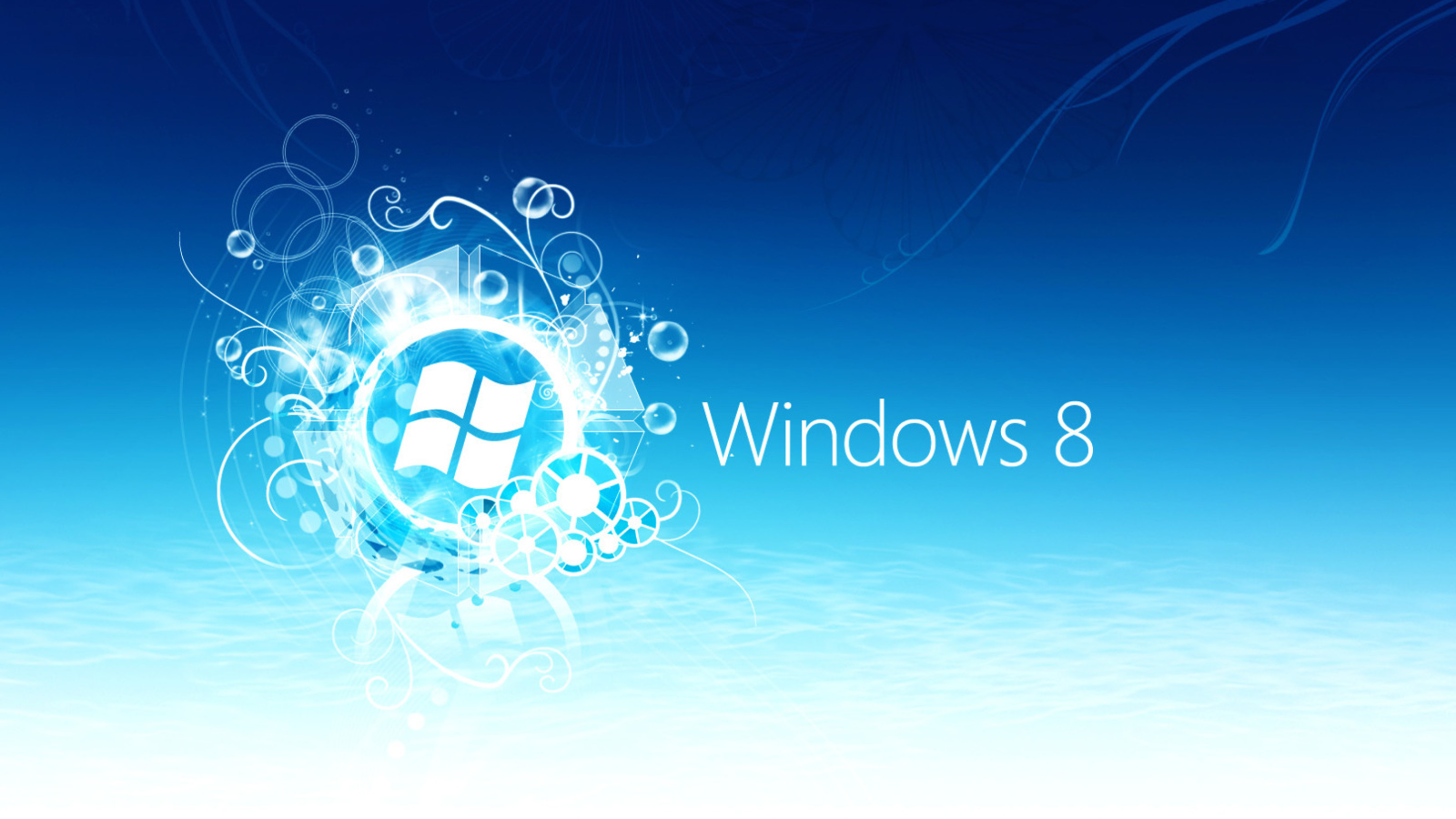 Screenshot №1 pro téma Windows 8 Blue Logo 1600x900