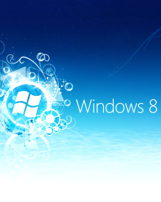 Windows 8 Blue Logo Background for Nokia Asha 300