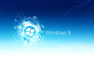 Windows 8 Blue Logo Wallpaper for 960x854