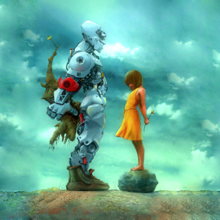Girl And Robot sfondi gratuiti per iPad 3