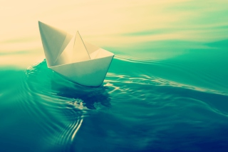 Paper Boat Background for Android, iPhone and iPad