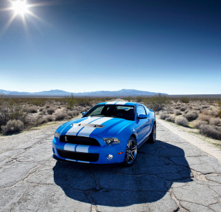 Free Blue Ford Mustang GT Picture for iPad mini