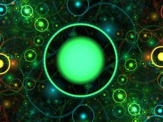 3D Green Circles para Nokia Asha 201