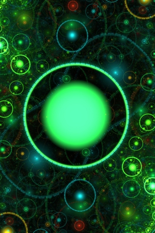 3D Green Circles para Huawei G7300