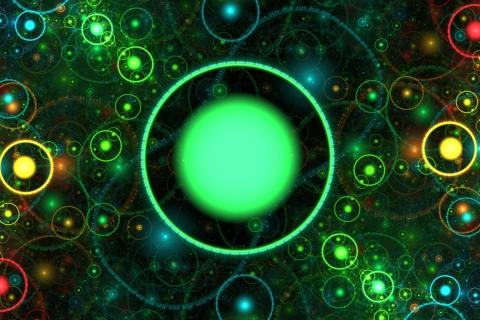 3D Green Circles para LG E400 Optimus L3