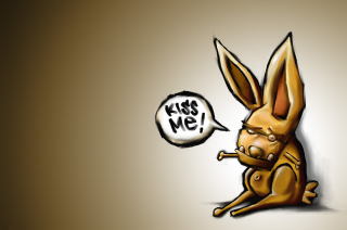Kiss Me Bunny Wallpaper for Android, iPhone and iPad