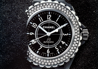 Chanel Diamond Watch Background for HTC Desire HD
