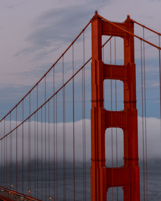 Golden Gate Bridge in Fog papel de parede para celular para 640x1136